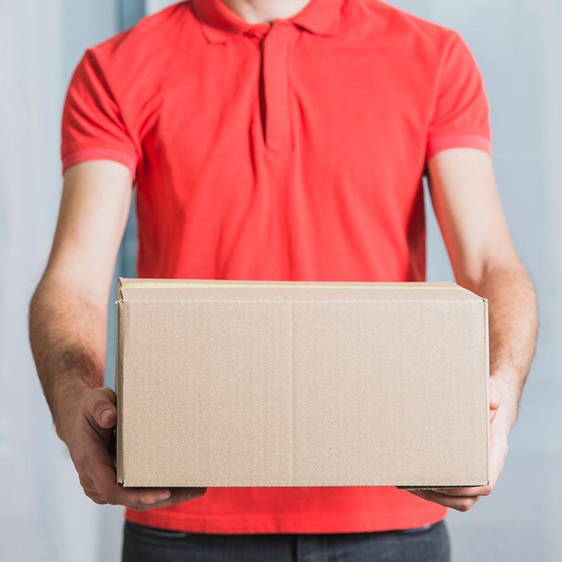 Coleta e entrega de encomendas