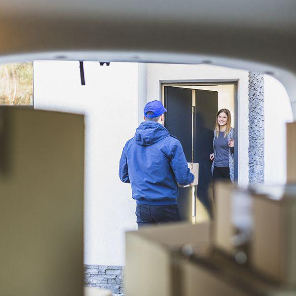 Entrega encomendas porta a porta