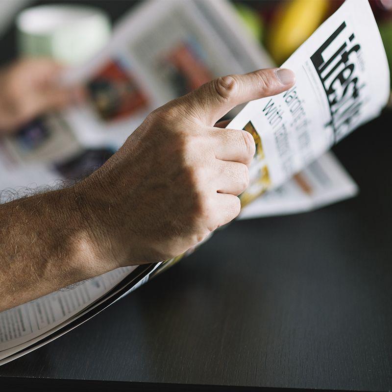Orçar distribuição de jornais e revistas