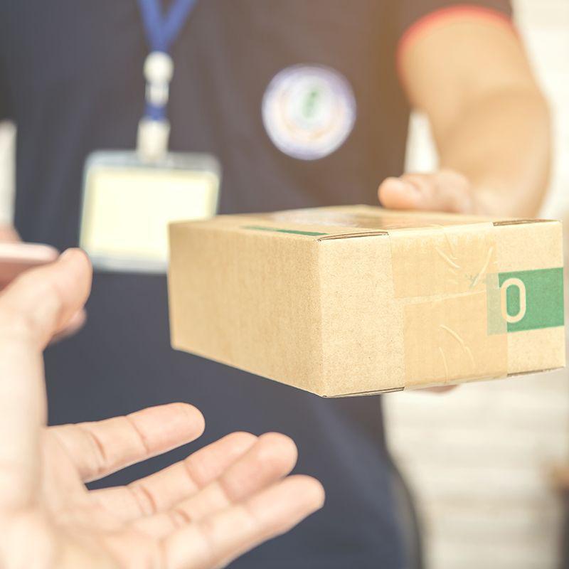 Orçar entrega porta a porta de pequenos volumes